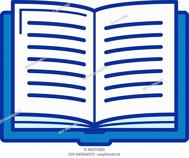 Student book vector line icon isolated on white background. Student book line icon for infographic, website or app. Blue icon designed on a grid system