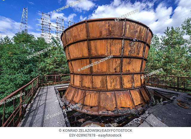 Cooling system of Duga rada in Chernobyl-2 military base, Chernobyl Nuclear Power Plant Zone of Alienation in Ukraine