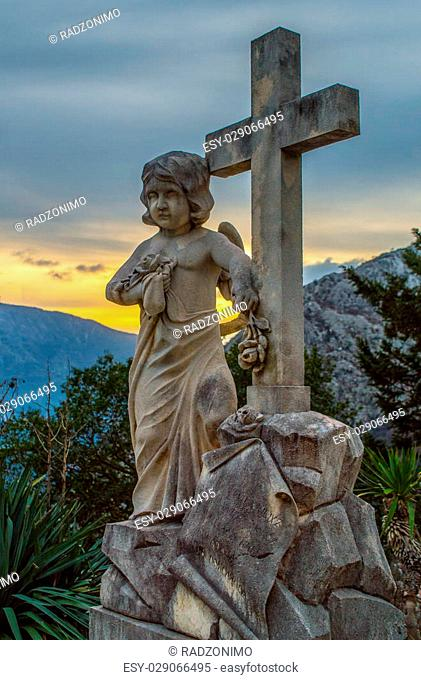 Angel with the Holy Cross, Orahovac, Montenegro