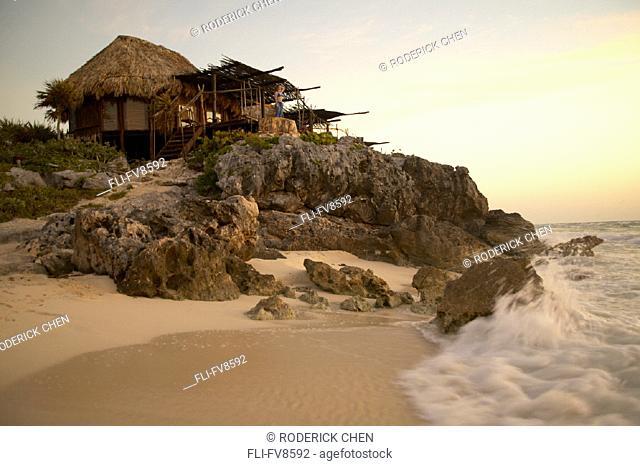 Hut on Beach Tulum Mexico