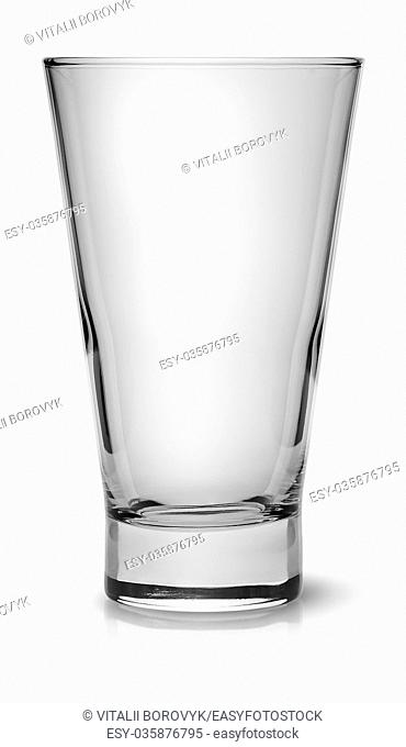 Wide glass for cocktail isolated on white background