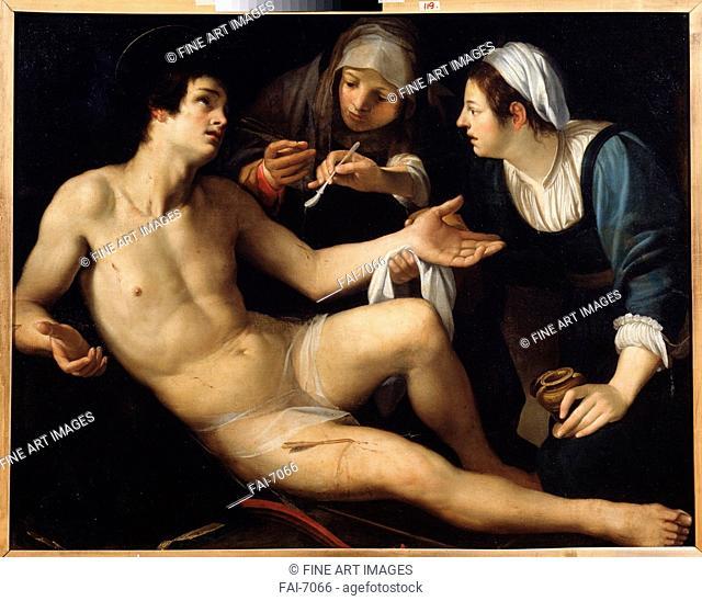 Saint Sebastian. Rustici, Francesco (ca. 1575-1626). Oil on canvas. Mannerism. State Art Museum, Yekaterinburg. 119x148. Painting