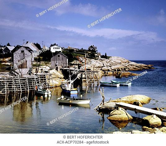 Portuguese Harbour; Canada,Nova Scotia;East Coast;Harbor;Lighthouse;Fishing Village