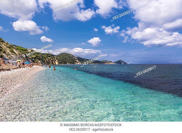 Italy, Toscana (Tuscany), Elba Island, Portoferraio . View of Capobianco beach