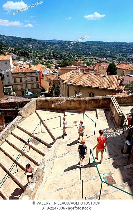 The city of Grasse, Préalpes d'Azur regional park, Alpes-Maritimes, Provence-Alpes-Côte d'Azur, France