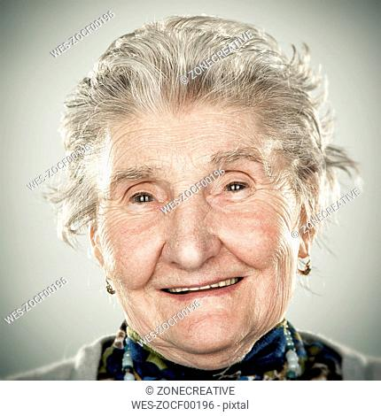 Portrait of an elderly lady