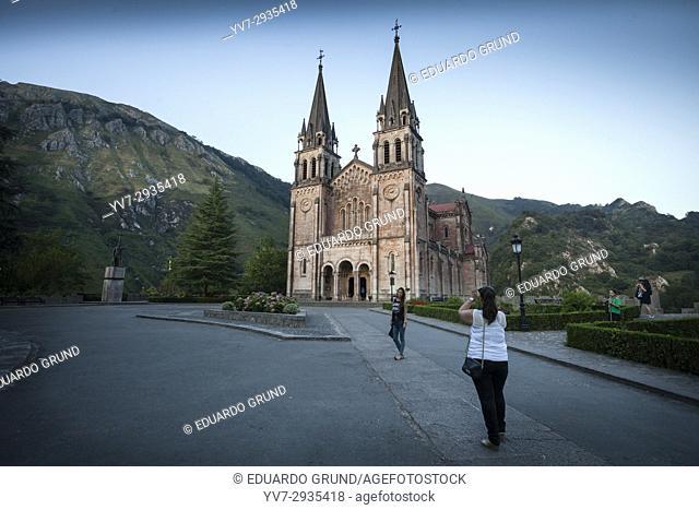 Basilica of Santa María la Real de Covadonga, Covadonga, Picos de Europa, Asturias, Spain, Europe