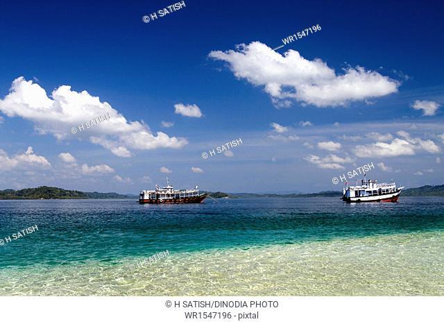 Jolly Buoy island near Wandoor Andaman India Asia