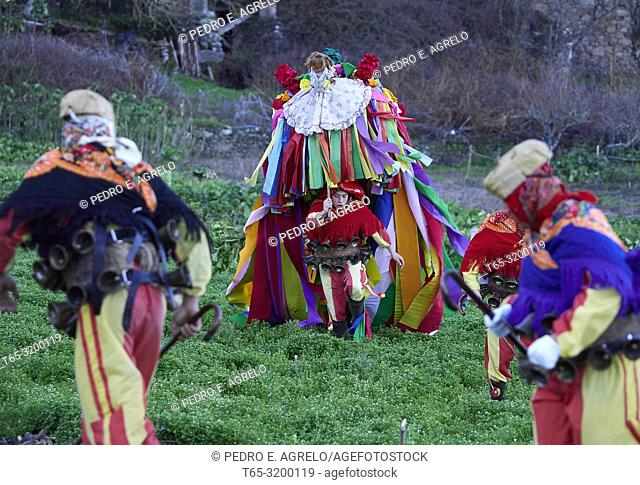 Chantada (Lugo) .- CARNAVAL GALICIA.- El Entroido Ribeirao, considered one of the most beautiful in all Galicia, is celebrated over four days of celebrations