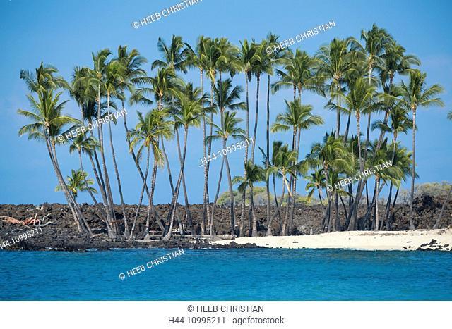 USA, Vereinigte Staaten, Amerika, Hawaii, Big Island, North Kona, Coast, Makalawena, Beach