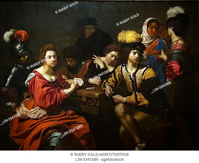 """Cardsharps and Fortune Teller"", 1623/25, by Nicolas Régnier (1591-1667)"