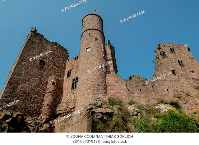 View from Castle Hanstein in germany with blue sky