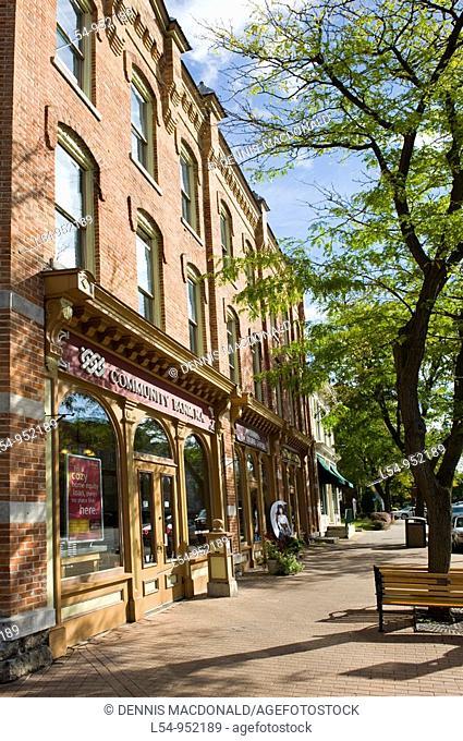 Street Shops Skaneateles New York Finger Lakes Region