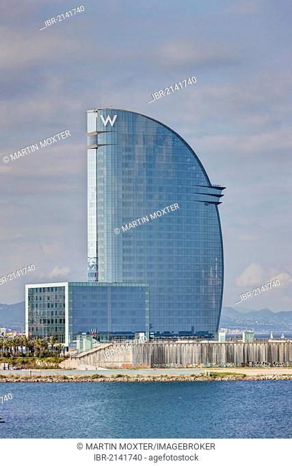 W Hotel in Barcelona, designed by Ricardo Bofill, Barcelona, Catalonia, Spain, Europe, PublicGround