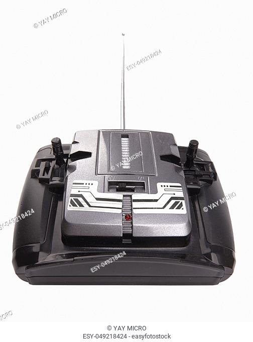 Radio remote control for toy car on white