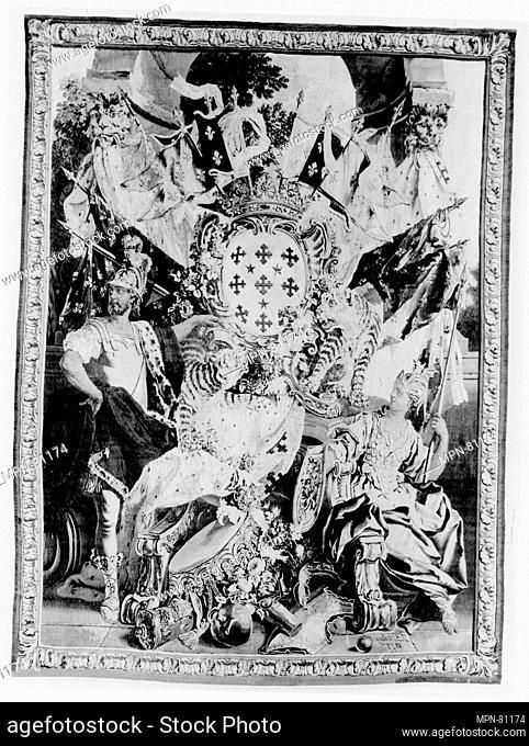 Arms of Joseph Marie, Second Duc de Boufflers. Designer: Designer: Jean-Baptiste Oudry (French, Paris 1686-1755 Beauvais); Maker: Workshop of Nicolas Besnier...