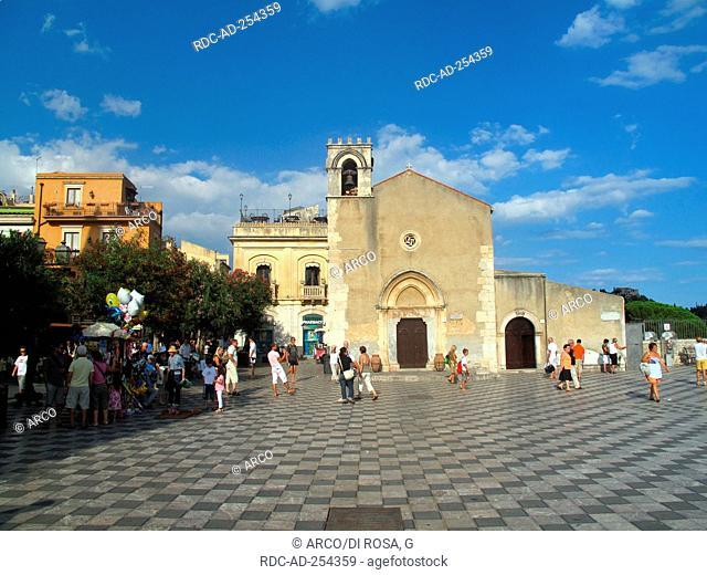 Church San Agostino Taormina Messina Sicily Italy Taurmina
