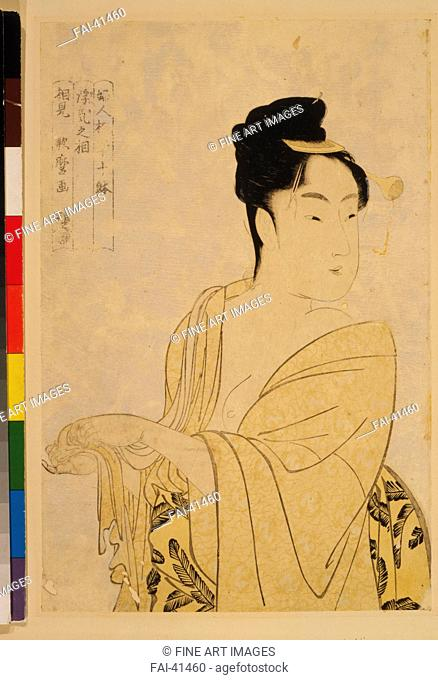 The Fancy-Free Type, from the series Ten Types in the Physiognomic Study of Women by Utamaro, Kitagawa (1753-1806)/Colour woodcut/The Oriental Arts/c