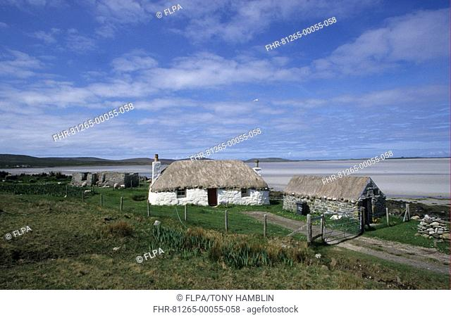 Scotland - Crofters Cottage, Valley Strand, Malaclete, North Uist, Outer Hebrides