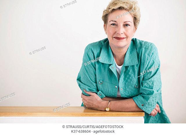 Portrait of 50-60 caucasian woman