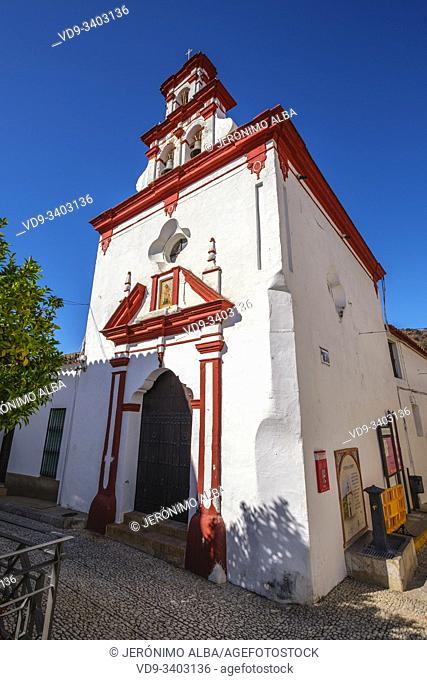 Santisima Trinidad chapel, Almonaster La Real, Natural Park Sierra de Aracena & Picos de Aroche, Huelva province. Southern Andalusia, Spain. Europe