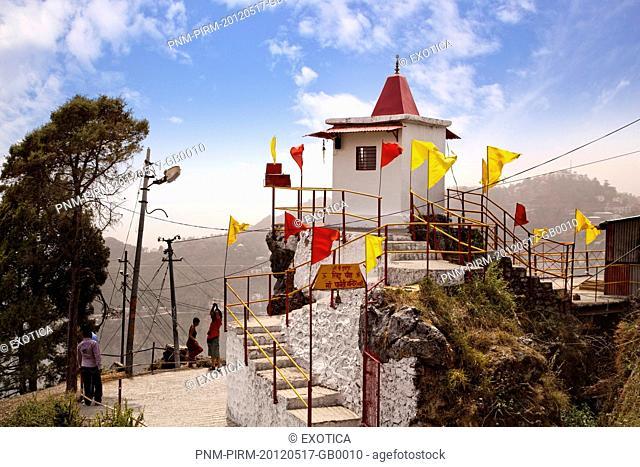 Parvati Temple on top of a hill, Gun Hill, Mussoorie, Uttarakhand, India