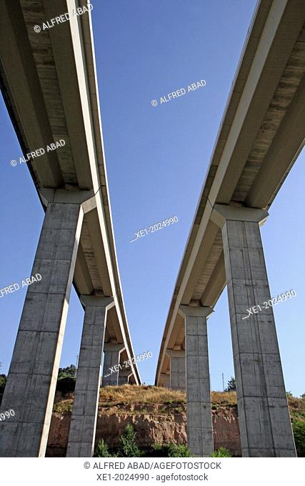 viaducts, Viladomiu Nou, Gironella, Catalonia, Spain