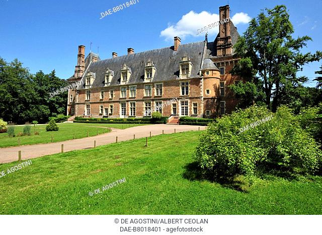 Saint-Amand-en-Puisaye Castle, 1530-1540, current seat of the Stoneware Museum, Burgundy-Franche-Comte, France, 16th century