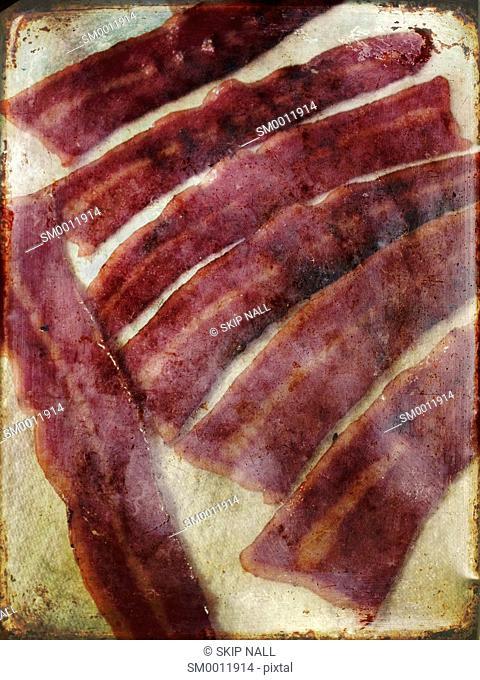 Strips of turkey bacon