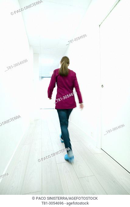doctor in the corridors, Castellon, Spain