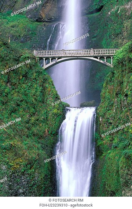 portland, landscape, travel, bridge, scenic, waterfall