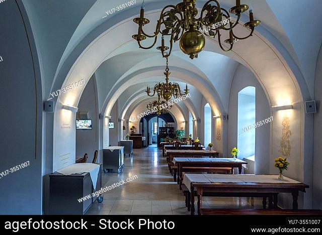 Canteen in Post-Camaldolese Monastery in Wigry village within Suwalki County, Podlaskie Voivodeship