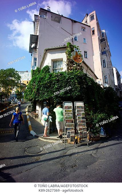 Cihangir neighborhood. Beyoglu. Istanbul. Turkey