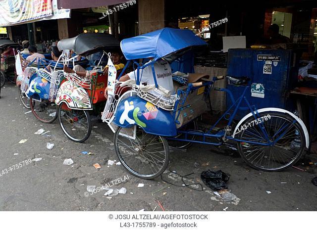 Malioboro street in Jogyakarta, Java, indonesia