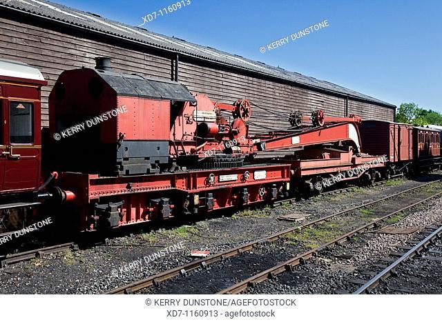 England Kent Tenterden Station with Steam powered crane