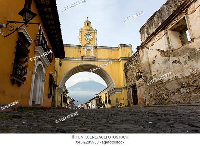 street in Antiqua, Guatamala