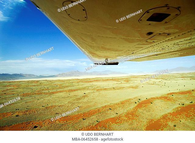 Africa, Namibia, flight above the Namib desert