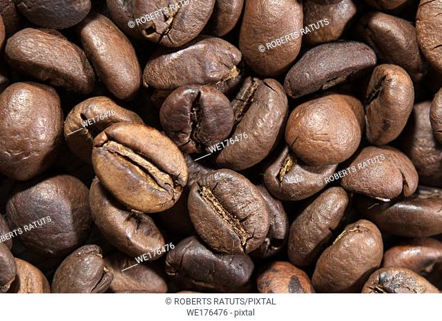 Coffee beans. Coffee beans as background or texture. Background of coffee beans
