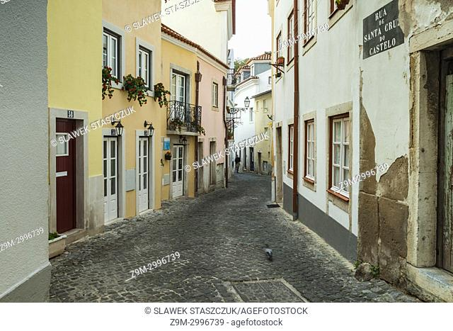 A street in Alfama district of Lisbon, Portugal