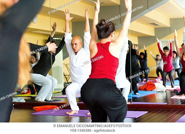 Hatha Yoga school, Chaoyang District, Beijing, China, Asia  PR