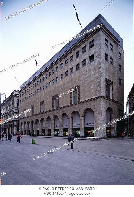 La Rinascente' stores (Magazzini 'La Rinascente'), by Reggiori Ferdinando, Molteni Aldo, 1948 - 1951, 20th Century. Italy, Lombardy, Milan