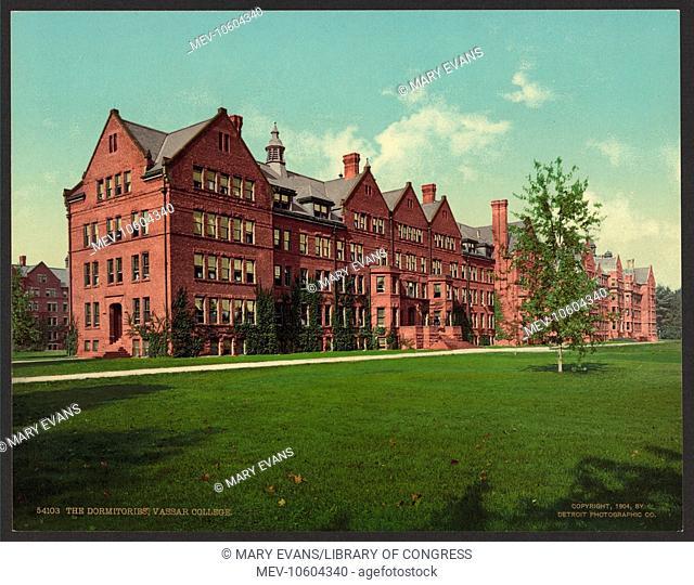 The dormitories, Vassar College. Date c1904