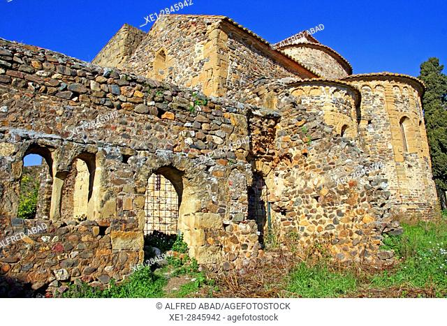 Monastery of Sant Miquel de Cruilles, Baix Emporda, Catalonia, Spain