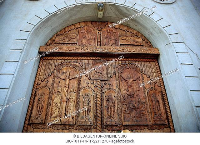 Portal of the monastery Cocos, near Tulcea, Dobrogea, Romania