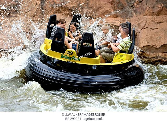 The thunder river in the Holidaypark, Hassloch, Rhineland-Palatinate, Germany