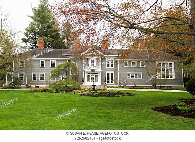 Taggart House, an estate built in 1850, can now be rented for vacations and events. Stockbridge, Massachusetts, United States, North America