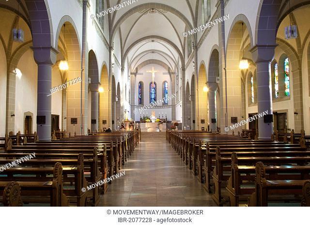 Wallfahrtsbasilika Mariae Heimsuchung basilica, pilgrimage church, a neo-Romanesque three-aisled hall church, Werl, a place of pilgrimage, Soest district