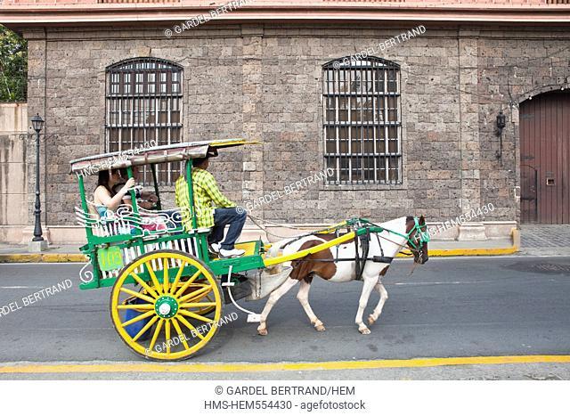 Philippines, Luzon island, Manila, Intramuros historic district, a horse-drawn sightseeing