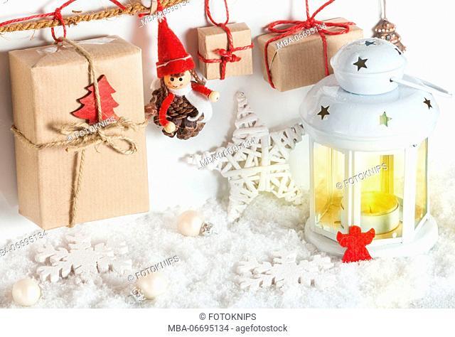 Lantern and Christmas presents