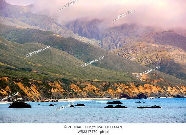 Foggy Summer Day at Andrew Molera State Park, Monterey County, California, USA